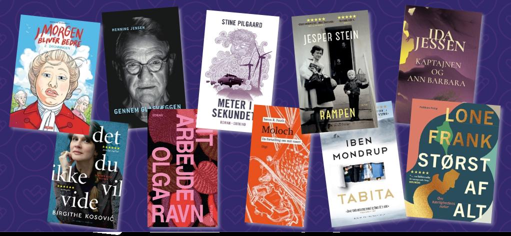 forsider af nominerede bøger