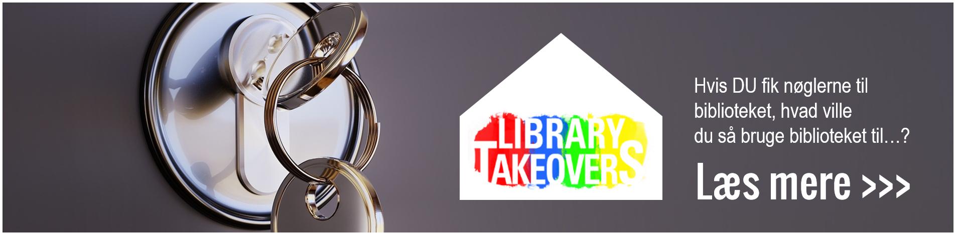 nøgler og Library Takeovers logo