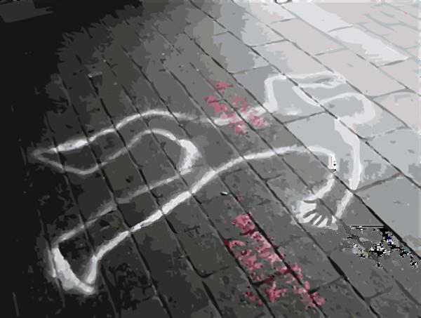 Omrids af død person