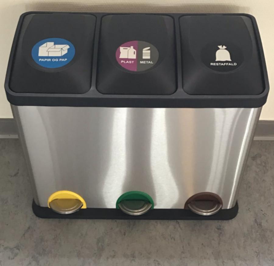 Affaldsbeholder til affaldssortering