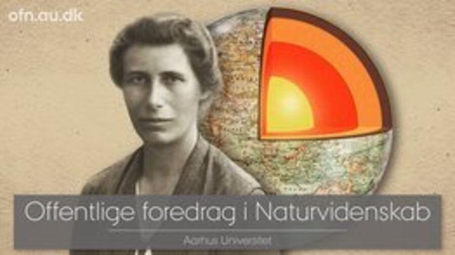 Seismologen Inge Lehmann med jorden i baggrunden