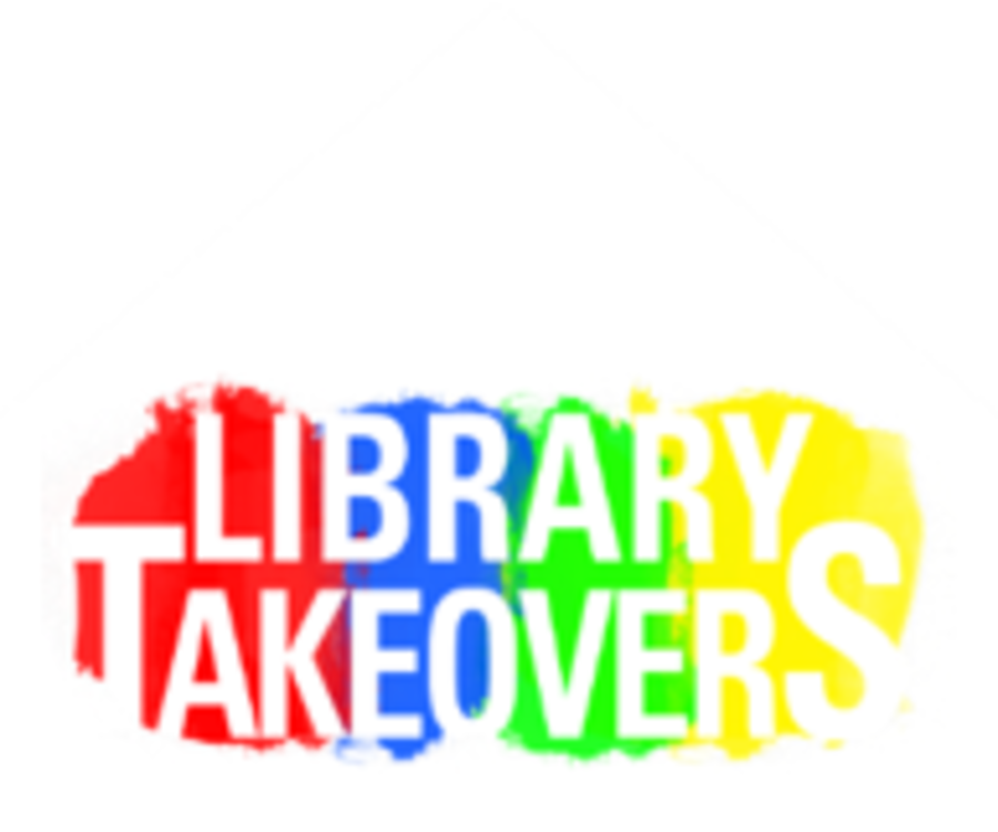 Library takeovers logo
