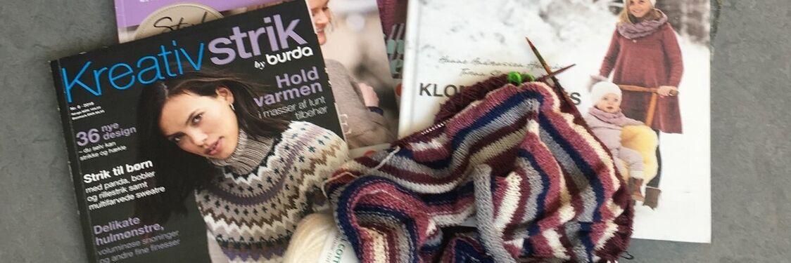 Strikketøj og strikkebøger